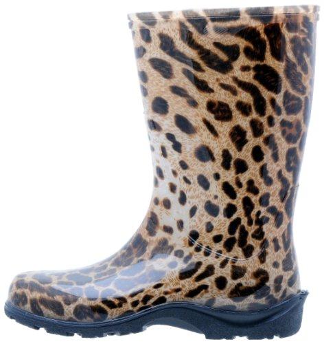 de paisley Imprimé léopard pluie Sloggers femmes bottes rouge pour 65g54wq