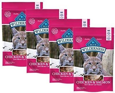 Blue Buffalo 4 Pack Wilderness Cat Treats – Value Bulk Pack Chicken Salmon