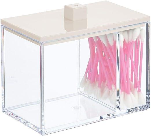 mDesign Organizador de maquillaje con dos compartimentos – Caja ...