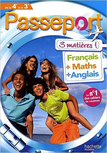 passeport toutes les matieres de la 4e vers la 3e cahier de vacances