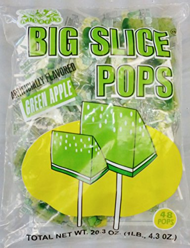 Albert's Big Slice Pops (Green Apple, 1 pound bag)