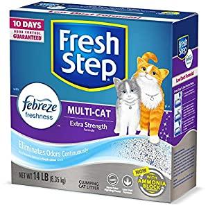 Fresh Step Advanced Multi-Cat Clumping Cat Litter with Odor Control
