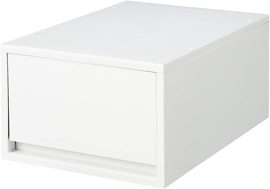 Muji Estuche De Almacenamiento Profundo De Polipropileno, 26 cm Ancho x 37 cm Profundidad x 17,5 cm Altura, Blanco / Gris: Amazon.es: Hogar