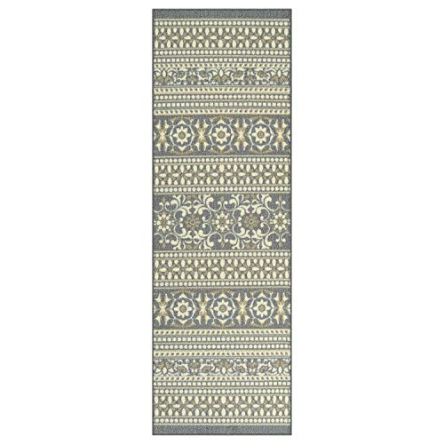 - Maples Rugs Runner Rug - Zoe 2 x 6 Non Skid Hallway Entry Rugs Runners [Made in USA] for Kitchen and Entryway, Grey