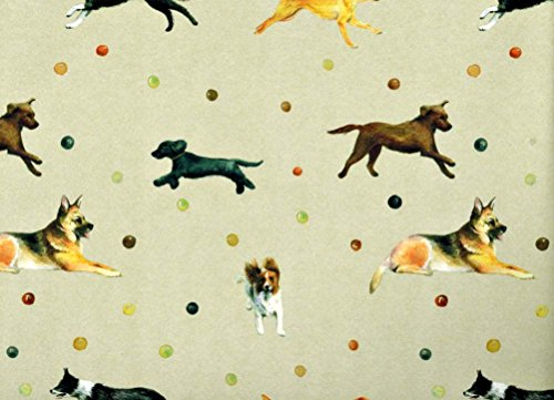 - Dog Gift Wrapping Paper - Labrador, Spaniels, Collie, Shepherd Gift Wrap Paper 2 Sheets 19.5 in x 27.5 in
