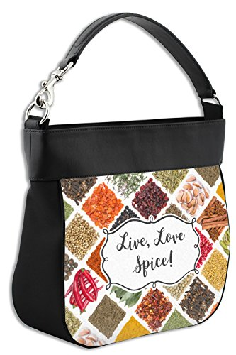 Front Purse Genuine amp; Personalized Spices Back w Leather Trim Hobo fqWAaT