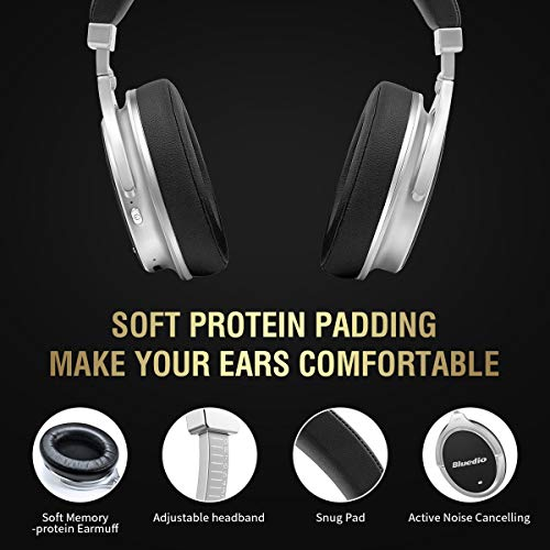 437f40f5d71 Bluedio F2 (Faith) Active Noise Cancelling Over-ear Business Wireless  Bluetooth Headphones with Mic (Black)