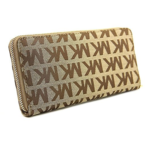 MICHAEL Michael Kors Jet Set Travel Continental Wallet (Beige/Ebony/Mocha) by MICHAEL Michael Kors (Image #1)