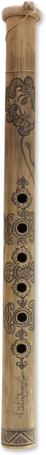 NOVICA MIU0040 Dragon King Bamboo Flute