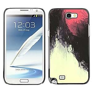 Caucho caso de Shell duro de la cubierta de accesorios de protección BY RAYDREAMMM - Samsung Galaxy Note 2 N7100 - Red Sky Magma Under Water