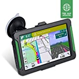 NAVRUF Car GPS Navigator, 7-inch 8GB HD Touch Screen Navigation System, Driving Alarm, Voice Transition Direction, with Sun Visor and Free Lifetime Update map