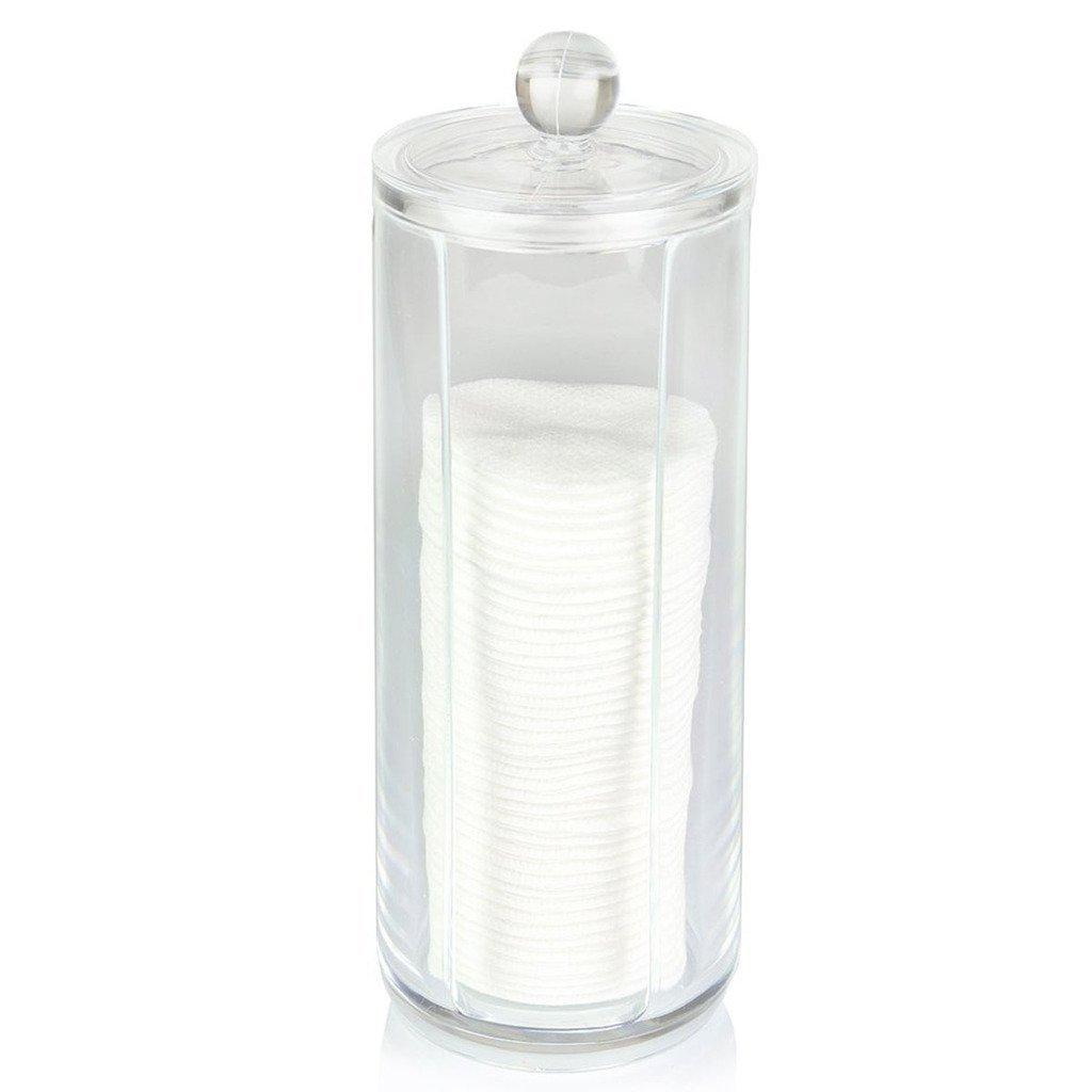 Eagsouni® Cosmetici Organizzatore Porta Trucco Cotone Fioc Cosmetic Make up Organizer Espositore, Trasparente Contenitore per Dischetti di Cotone MQH-JJ35-VB