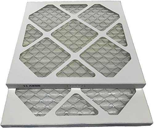Filterene 12x12x1 Air Filter MERV 11 Allergen Control Pleated AC Furnace Air Filter, Pack of 2, USA Manufactured by Filterene (Image #1)