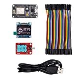 ThingPulse #1 Arduino WiFi ESP8266 Starter Kit for IoT, NodeMCU Wireless, I2C OLED Display, DHT11 Temperature/ Humidity Sensor, Comprehensive Manual with Exercises