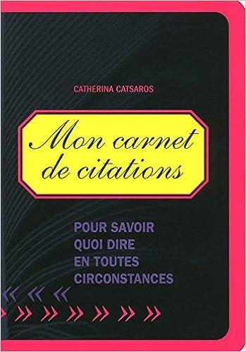 En ligne téléchargement MON CARNET DE CITATIONS epub pdf