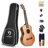 Soprano Ukulele Mahogany Acoustic 21in Ukulele for Beginners Bundle ukulele starter kit, by Vangoa