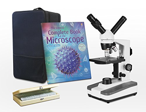 UPC 600649660612, VIsion Scientific Dual View Compound Microscope, 40x—400x Magnification, LED, Rechargeable Battery, Microscope Book, 50 Prepared Slides Set, Microscope Carrying Case, Free Gift Package ($20 Value)