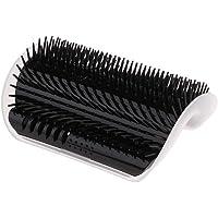 B Blesiya 127x85x50mm Pet Cat Scratching Board Self Groomer Brush Wall Corner Grooming Massage Comb with Catnip (Black)