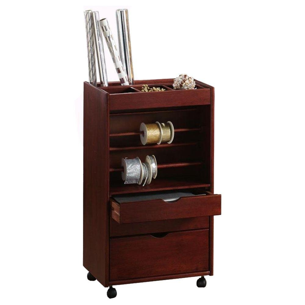 Stanton Wrapping Cart, 35.5''Hx20''Wx14''D, DARK CHERRY by Home Decorators Collection