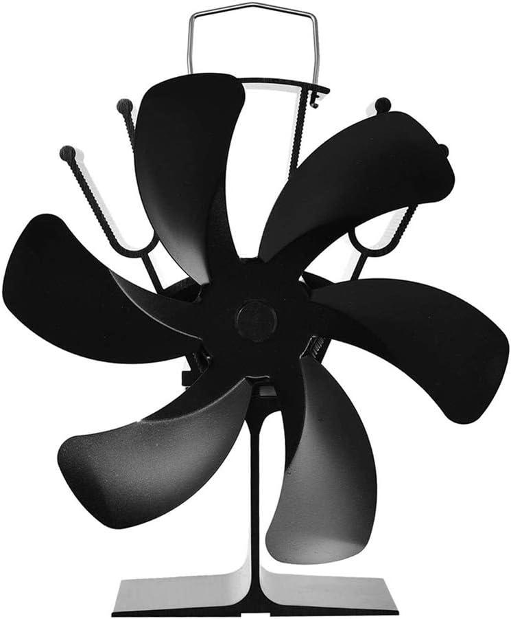 VVA Ventilador de Estufa Inicio Silencioso Funcionamiento Leña con 6 Aspas Alta Velocidad Protección del Medio Ambiente Ventilador sin Corriente para Estufas de Leña Chimeneas