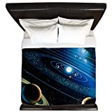 CafePress - Artwork Of The Solar System - King Duvet Cover, Printed Comforter Cover, Unique Bedding, Microfiber