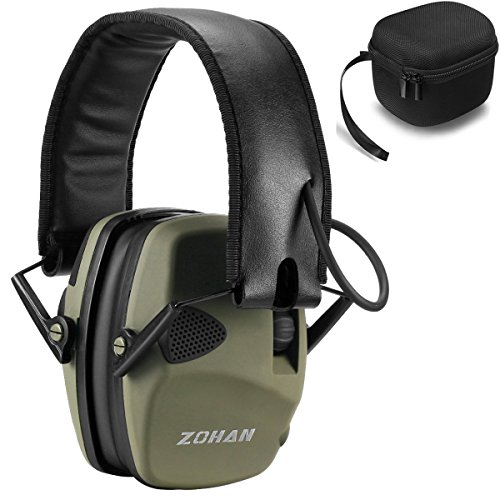 Electronic Shooting Ear Defenders, ZOHAN Sound Amplification Earmuff for...