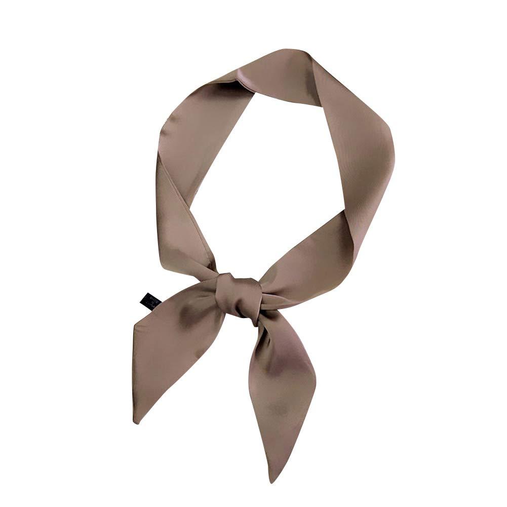Damen Schal Kopftuch Halst/ücher Einfarbig Retro Elegant Party Haarband