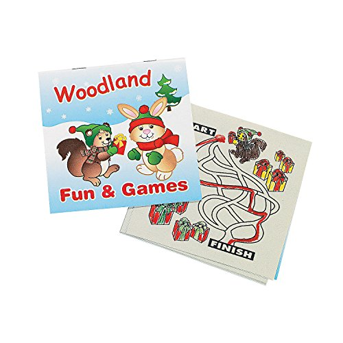 Fun Express  Woodland Fun and Games Book 5x5 for Christmas  Stationery  Activity Books  Activity Books  Christmas  24 Pieces