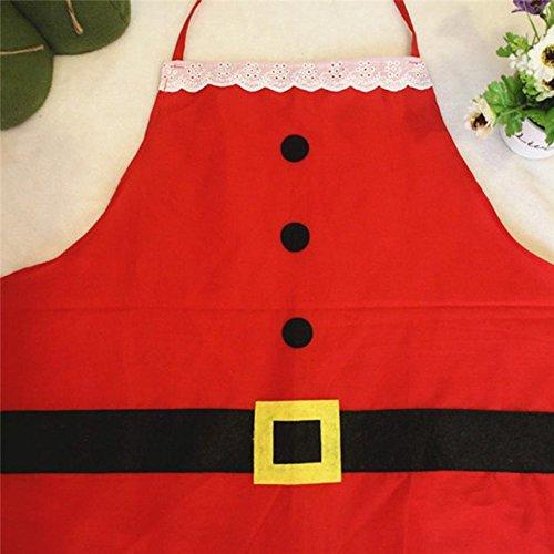 Kfnire Grembiule di Natale 2pz Classico Adulto /& Bambino Grembiule di Natale di Natale per la Festa di Natale