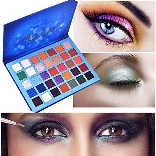 Eyeshadow Palette Natural Shimmer Matt Set Cosmetic Powder(35Colors) by DMZ