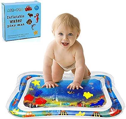 Colchoneta Bebe, Felly Alfombra Inflable con Agua, Juego de Esterilla de Agua PVC Grueso, Adecuado para niños pequeños, es el Momento de diversión ...