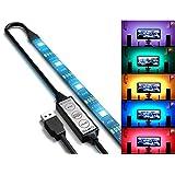 TOPMAX RGB Multicolor USB 100cm/3.28ft 5V Waterproof 30 Led Strip Light TV Backlight Bias Lighting for HDTV, Desktop,Tablet etc.