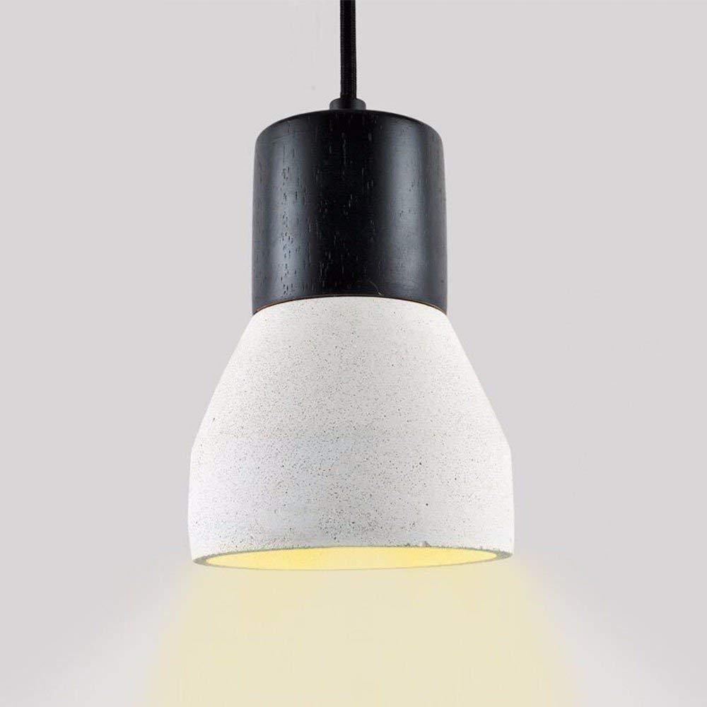 EI Guo Home Vintage Kronleuchter Kreative Home Beleuchtung Persönlichkeit Restaurant Schlafzimmer Wohnzimmer Beleuchtung Zement Retro Mini Taschenlampe 120  210 Mm Weiß
