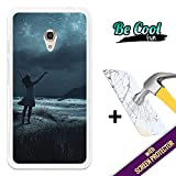 BeCool®- Cover Gel Flexible Alcatel OneTouch Pixi 4 5.0, protects and adapts flawlessly to your Smartphone, with our exclusive designs. Star-filled night sky [ +1 Tempered Glass Screen Protector ]