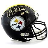 "Jack Lambert Signed Pittsburgh Steelers Riddell Full Size NFL Helmet with ""HOF 90"" Inscription - Autographed NFL Helmets"