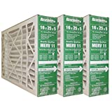 "GeneralAire # 4511 ReservePro 16x25x5 furnace filter, Actual Size:15 5/8"" x 24 3/16"" x 4 15/16"" Case of 3 Filters"