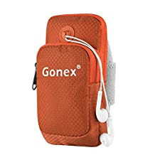 Sports Armband, Gonex Running Gym Universal Smartphone Arm Bag Waterproof with Earphone Hole for iPhone, Samsung Sony HTC, Two Size Choices 4.0-4.7(Small) for Iphone 7 or 4.7-5.7(Large) for Iphone 7 Plus
