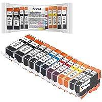 K-Ink Compatible Ink Cartridges for Pixma iP4820, iP4920, iX6520, MG5120, MG5220, MG5320, MX712, MX882, MX892 (12 Pack - 2 Big Black, 2 Small Black, 2 Cyan, 2 Magenta, 2 Yellow, 2 Gray)