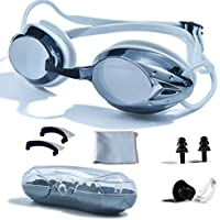 PHELRENA Swimming Goggles, Professional Swim Goggles Anti...