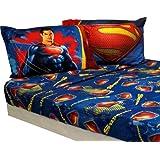 "Superman Movie ""Man Of Steel"" Full Sheet Set Bedding"