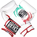 Cleto Reyes Hook and Loop Closure Training Gloves White/Red/Green 14 oz.
