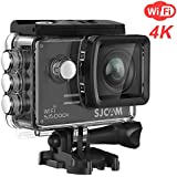 SJCAM 4K Wifi Action Camera SJ5000X Elite Waterproof Underwater Camera- 4k@24FPS 12MP/Gyro Stabilization/2.0 LCD Screen (Waterproof Case & Accessories Included)- Black