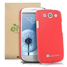 GreatShield HQ Slim-Fit Rubberized Back Case Cover for Samsung Galaxy S3 III i9300 - (Red)