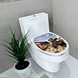 Toilet Sticker Abandoned restaraunt on Route Road in USA Home Decor Applique Papers W12 x L14