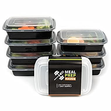 Meal Prep Haven Stackable Food Containers with Lids, Set of 7