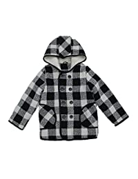 BASADINA Boys Girls Hooded Jacket Lattice Style Kids Winter Warm Coat Outerwear