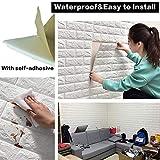 Sodeno 10 Pcs 3D Wall Panels, 3D Wallpaper Sticker