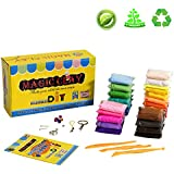 Tinciy Magic 24 Colors Clay Air Dry Clay Colorful DIY Soft Modeling Ultra Light Craft Best Gift for Children
