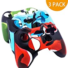 BRHE Cool Silicone Protector Cover Case Anti-slip Soft Comfort for Xbox 360 Controller Skin Camo (3 Colors Package)