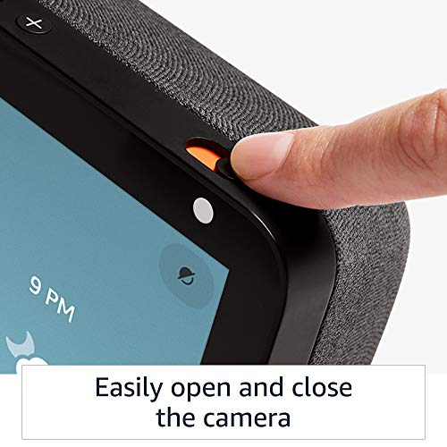 Echo Show 8 (1st Gen, 2019 release) -- HD smart display with Alexa – stay connected with video calling - Charcoal